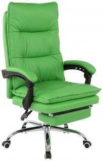 XL Bürostuhl 136 kg belastbar grün Kunstleder Chefsessel Computerstuhl Drehstuhl