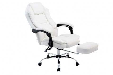 Bürostuhl 120 kg belastbar weiß Kunstleder Chefsessel Computerstuhl Drehstuhl - Vorschau 2