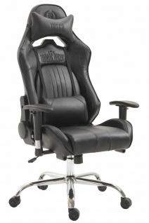 Chefsessel 150kg belastbar schwarz Kunstleder Bürostuhl Zocker Gamer Gaming - Vorschau 1