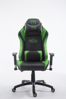 XL Bürostuhl 150 kg belastbar schwarz grün Chefsessel Zocker Gamer Gaming - Vorschau 2