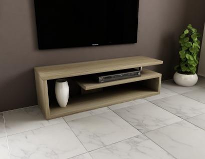 Fernsehregal Lowboard edler Fernsehtisch design günstig modern Hochglanz 130 cm