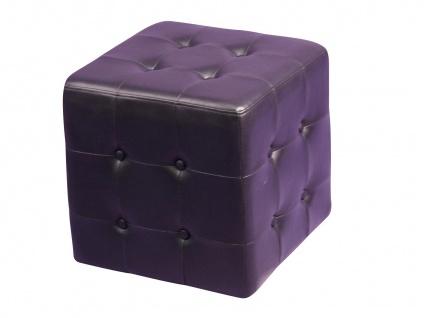 design Sitzwürfel schwarz Sitzhocker Hocker Würfel Schaumfüllung Lederoptik neu