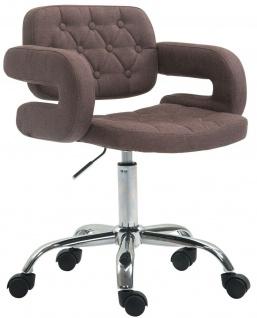 Bürostuhl braun Stoffbezug Drehstuhl Arbeitshocker modern design stabil NEU