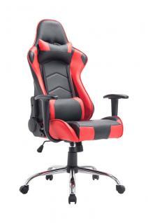 XL Bürostuhl schwarz rot Chefsessel Kunstleder Gaming Gamer Zockersessel neu