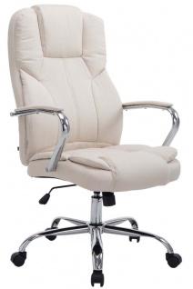 XXL Bürostuhl creme 210 kg belastbar Chefsessel für schwere Personen Stoffbezug