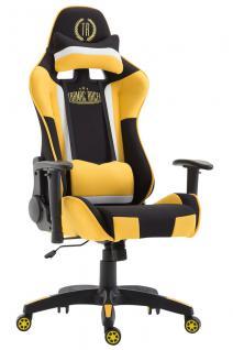 XL Bürostuhl schwarz gelb Stoffbezug Bürostuhl modern design hochwertig Gamer