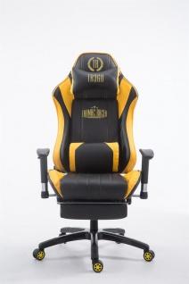 XL Bürostuhl 150 kg belastbar gelb Chefsessel Fußstütze Gaming Zockersessel - Vorschau 2