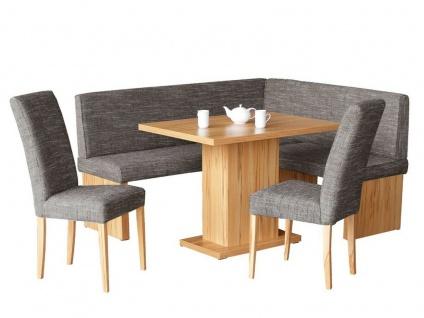 moderne Eckbankgruppe Kernbuche / grau Tischgruppe Essgruppe Essecke design NEU