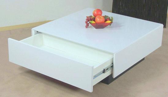Couchtisch hochglanz wei wohnzimmertisch bestellen yatego for Tisch design andrea