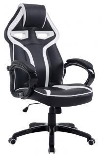 XL Bürostuhl 150 kg belastbar schwarz weiß Chefsessel modern design hochwertig
