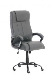 Bürostuhl grau 150 kg belastbar Chefsessel Kunstleder Drehstuhl stabil robust
