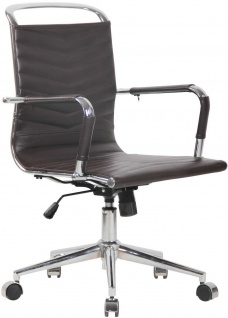 Chefsessel Echtleder braun 136 kg belastbar Drehstuhl Bürostuhl modern design