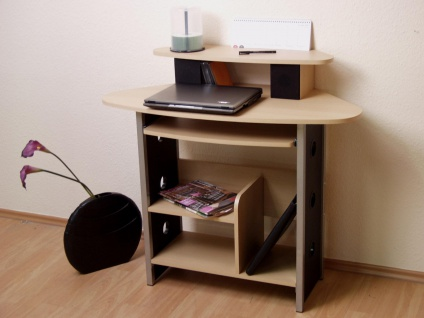Schreibtisch Buche Tisch Computertisch PC-Tisch Büro Tastaturauszug Ablage