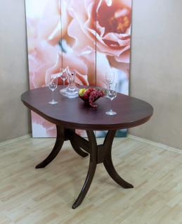 Auszugtisch Einlegplatte nußbaum massivholz oval edler Esstisch erweiterbar