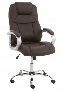 XL Chefsessel 150 kg belastbar Kunstleder braun Bürostuhl große schwere Personen