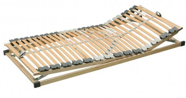 verstellbarer Lattenrost 90x200 cm 5-Zonen-System Schichtholzrahmen, 28 Leisten