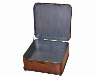 Couchtisch Koffer Metall Beistelltisch Vintage used look design antik braun - Vorschau 2
