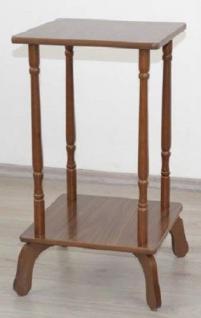 Beistelltisch teilmassiv nussbaum Holz Beitisch Telefontisch Konsole Landhaus