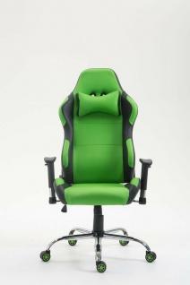 XL Bürostuhl 136 kg belastbar Kunstleder schwarz/grün Chefsessel Gamer Zocker - Vorschau 2