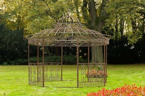 Luxus Pavillon Eisen braun antik Pergola Rosenbogen Gartenpavillon Romantik