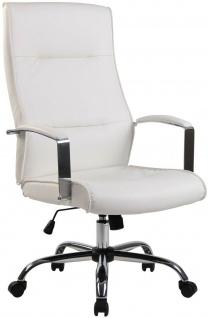 Chefsessel 136 kg belastbar Kunstleder weiß Bürostuhl Drehstuhl robust stabil