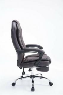 Bürostuhl 120 kg belastbar braun Kunstleder Chefsessel Computerstuhl Drehstuhl - Vorschau 3