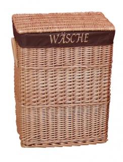 Wäschekorb mit Stoffeinsatz Wäschetruhe Weide Wäschebox Wäschesammler neu