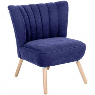 Retro Sessel Veloursstoff Wohnzimmersessel Lounge Einzelsessel Vintage design