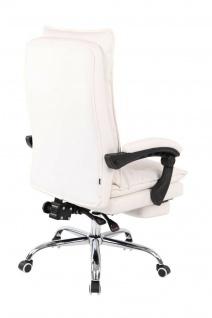 XL Bürostuhl 136 kg belastbar weiß Kunstleder Chefsessel Computerstuhl Drehstuhl - Vorschau 4