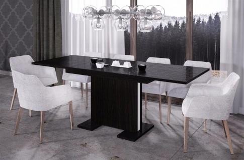 design Säulentisch Wenge ausziehbar Auszug Esstisch modern günstig hochwerig