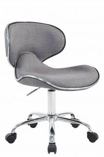Bürostuhl hellgrau 115 kg belastbar Stoff Drehstuhl Arbeitshocker modern design