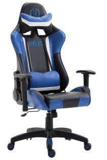 XL Bürostuhl schwarz blau Kunstleder Bürostuhl modern design hochwertig Gamer