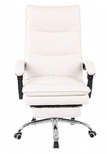 XL Bürostuhl 136 kg belastbar weiß Kunstleder Chefsessel Computerstuhl Drehstuhl - Vorschau 2