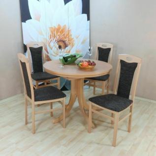 Essgruppe 5 tl.g Buche natur schoko Tischgruppe modern design Stuhlset Tisch