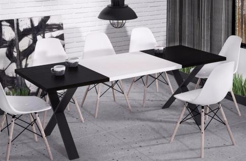 hochwertiger Esstisch 130-170 ausziehbar Wenge Küche Esszimmer Metall modern