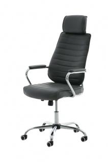 Bürostuhl 120 kg belastbar Kunstleder grau Chefsessel Drehstuhl modern design