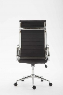 Bürostuhl 136 kg belastbar schwarz Kunstleder Chefsessel modern design stabil - Vorschau 4