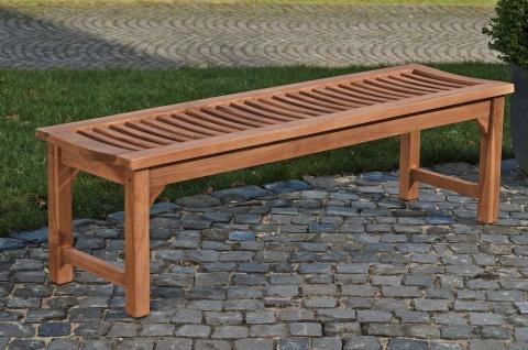 Gartenbank braun 220x45x45 cm massivholz Teakholz Holzbank Sitzbank Sprossen