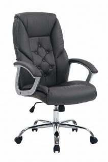 XXL Chefsessel 210kg belastbar grau Kunstleder Bürostuhl schwere Personen stabil