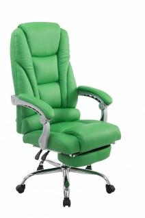 XXL Bürostuhl 150 kg belastbar grün Kunstleder Chefsessel Fußablage Drehstuhl