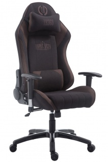 Chefsessel 150 kg belastbar schwarz braun Stoff Bürostuhl Gaming Zocker Gamer