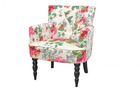 Polstersessel Blumenmotiv Relaxsessel Fernsehsessel Sessel modern design