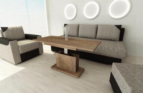 Couchtisch nußbaum ausziehbar Wohnzimmer design modern Sofatisch Auszugtisch neu