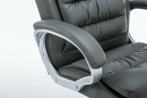 XXL Bürostuhl bis 235 kg belastbar Kunstleder grau Chefsessel schwere Personen - Vorschau 5