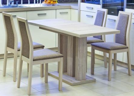 Säulentisch Esstisch Küchentisch Ausziehbar Auszugtisch Kirschbaum Wenge weiß