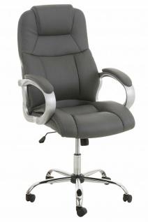 XXL Chefsessel 150 kg belastbar Kunstleder grau Bürostuhl große schwere Personen