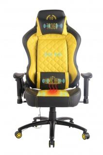 Chefsessel gelb Kunstleder Bürostuhl Wärme/Massage Gaming Gamer Zockersessel
