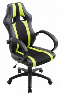 XL Bürostuhl 136kg belastbar schwarz grün Kunstleder Chefsessel schwere Personen