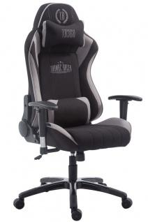 XL Bürostuhl 150 kg belastbar grau schwarz Stoffbezug Chefsessel Zocker Gamer