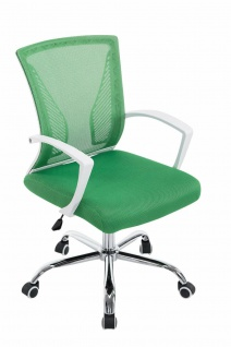 Bürostuhl ergonomisch grün Netzbezug Drehstuhl Computerstuhl stabil belastbar